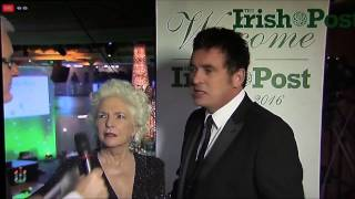 The Irish Post Awards 2016 - Shane Richie and Fionnula Flanagan Interview 25.11.2016
