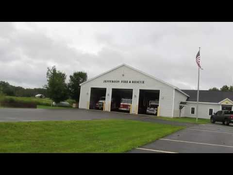 Jefferson Maine Volunteer Fire Department responding to a vehicle collision