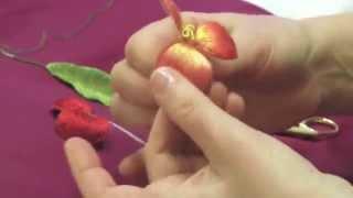 ОБЪЕМНАЯ ВЫШИВКА(СБОРКА ЦВЕТКА)\ assembly of parts of a flowerSTUMPWORK