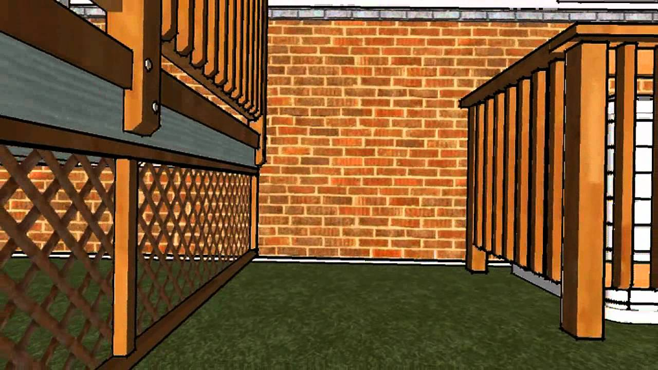 10 39 x 16 39 deck flythru made with google sketchup youtube for Sketchup deck design