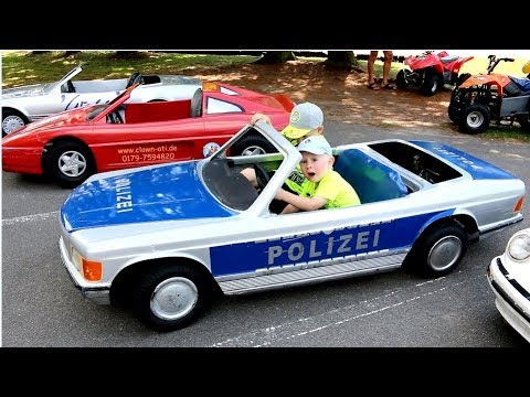 Polizei Zeichentrick Kinder Film Гber Elektro Polizei Auto in real live