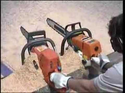Chainsaw Air Injection Demonstration Husqvarna/Stihl