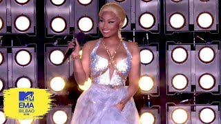 Nicki Minaj Accepts the Award for Best Hip Hop | MTV EMAs 2018