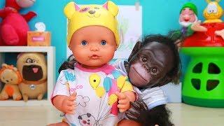 Mis Bebés Teo y Coco juegan a la Abuela Avariciosa y Aprenden a Compartir