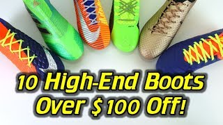 10 Football Boots/Soccer Cleats Over $100 Off! - Deals of the Week