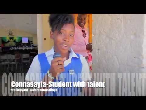Connasayia Clarendon College Sings Up #talkupyout