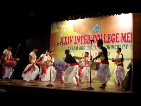 Bihu Dance During Inter College Meet, 2013 At Khanapara video