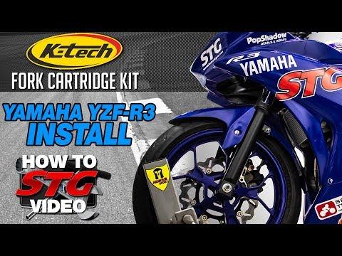 K-Tech Yamaha R3 Fork Cartridge Kit Install | Sportbike Track Gear