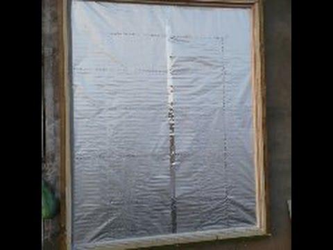 Самый недорогой солнечный воздушный коллектор - из алюминиевой фольги. Видео №8