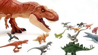 Giant T-Rex Eat Jurassic World 2 Fallen Kingdom Dinosaurs~ Learn dinosaur Names For Kids.
