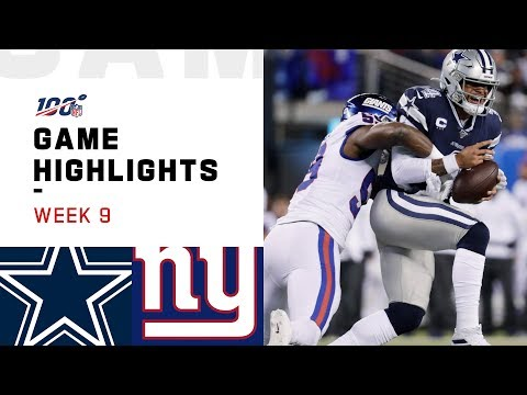 Cowboys vs. Giants Week 9 Highlights  NFL 2019