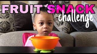 FRUIT SNACK CHALLENGE