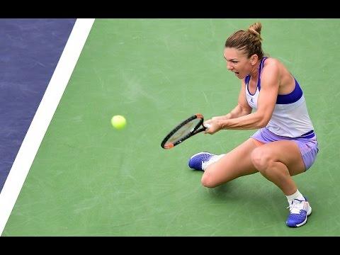 2015 BNP Paribas Open Day 8 WTA Highlights