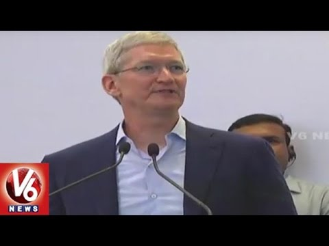 Tim Cook addressing at Apple Mapping Centre launching event | Hyderabad | V6 News