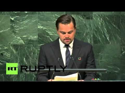 UN: DiCaprio calls for 'bold unprecedented action' over climate change