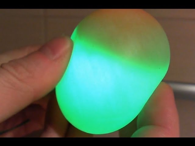 Squishy Glowing Egg : HapYak - Glowing Bouncy Egg - vinegar and egg - Rubber Egg Science Experiment
