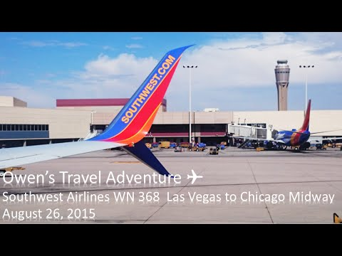 Southwest Airlines WN 368 Las Vegas to Chicago Midway Boeing 737 800