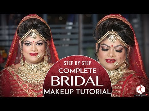 Indian Wedding Makeup Tutorial | Step By Step Complete Bridal Makeup Tutorial | Krushhh By Konica