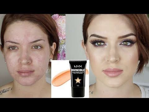 Nyx Invincible Fullest Coverage Foundation ♡ First Impression review video