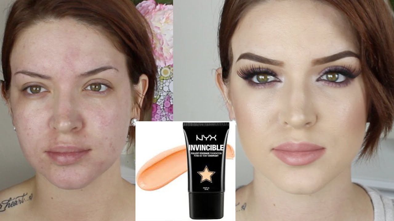 Nyx Invincible Fullest Coverage Foundation ♡ First