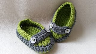 Crochet Baby Loafer - Slipper - Moccasin - Part 2 - Sides by BerlinCrochet