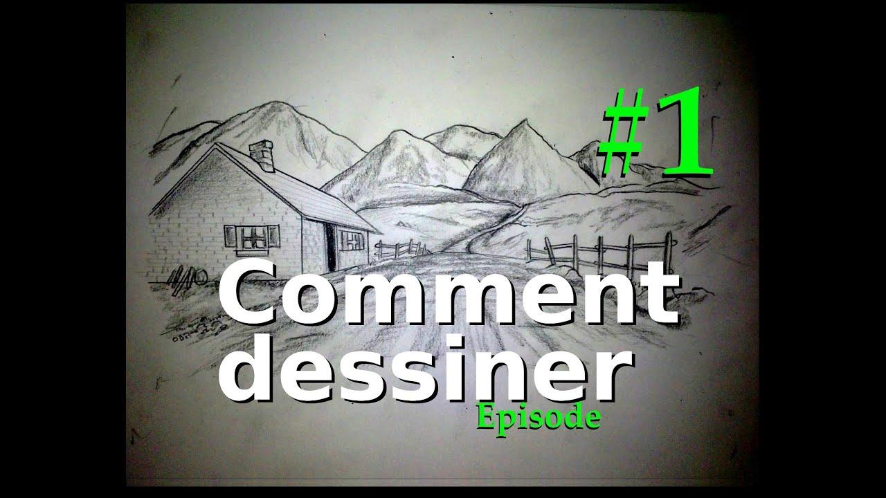 Comment dessiner episode 1 mat riel paysages perspective youtube - Dessiner un paysage d hiver ...