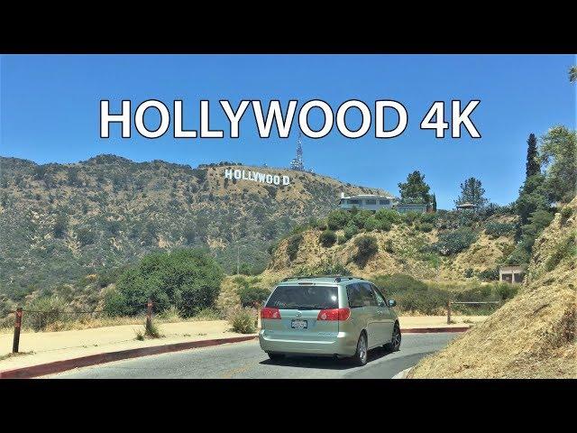 Driving Downtown - Hollywood Sign 4K - USA thumbnail