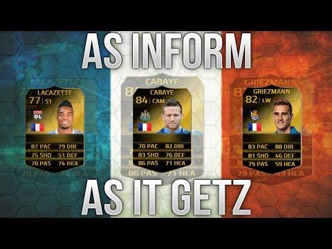 FIFA 14 Ultimate Team   As Inform As France Getz   Squad Builder! Full Inform French Team!