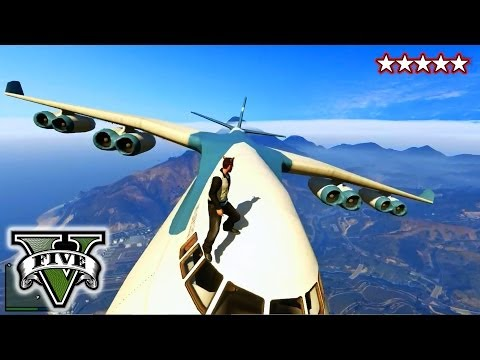 GTA 5 CARGO PLANE!!! - GTA Military Jets, Blimps & Cargo Plane!!! - Grand Theft Auto 5 Music Videos