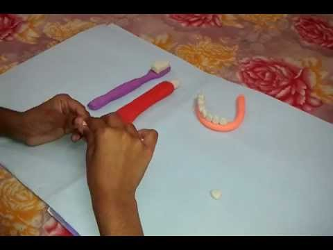 How to make a tooth with clay dough youtube for How to make different types of house models