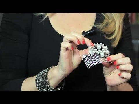 DIY Vintage Hair Combs Bridal Hair Upstyles YouTube