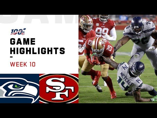 Seahawks vs. 49ers Week 10 Highlights | NFL 2019 thumbnail