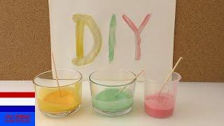 Kleuren mengen | zelf verf maken van natuurlijke ingrediënten | niet giftig