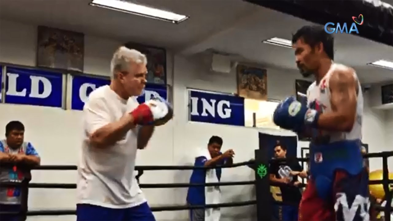 Manny Pacquiao and Coach Freddie Roach train for Resurgence