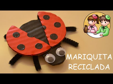Mariquita con Cartón Reciclado | Actividades Manuales