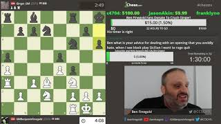 GM Ben Finegold - GM Simon Williams 2!!  The REMATCH!!!!!!