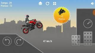 Como passar a fase 28 do jogo Moto Wheelie com 3 estrelas