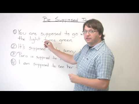 "Speaking English – Expectations – How to use ""supposed to"""