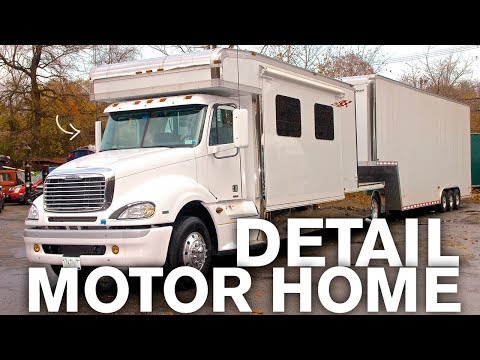 Detailing a Motorhome and Trailer