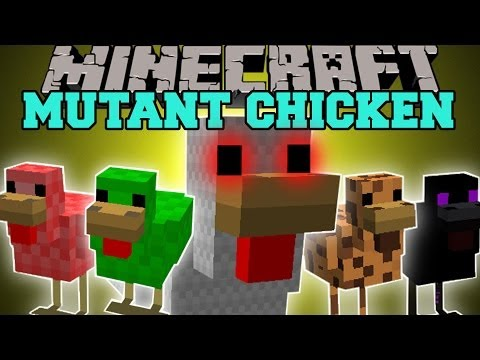 Minecraft: MUTANT CHICKEN MASSIVE VALUABLE AND EPIC CHICKENS Mod Showcase