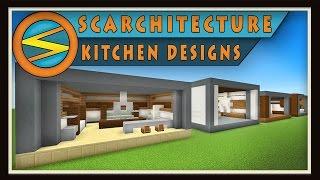 Minecraft:  Five Modern Kitchen Designs    (Scarchitecture Ep.1)