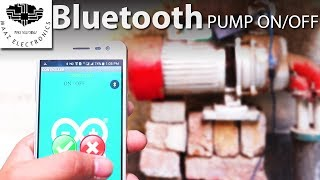 DIY Control Home Water Pump by Bluetooth With Android App Arduino Project Urdu, Hindi