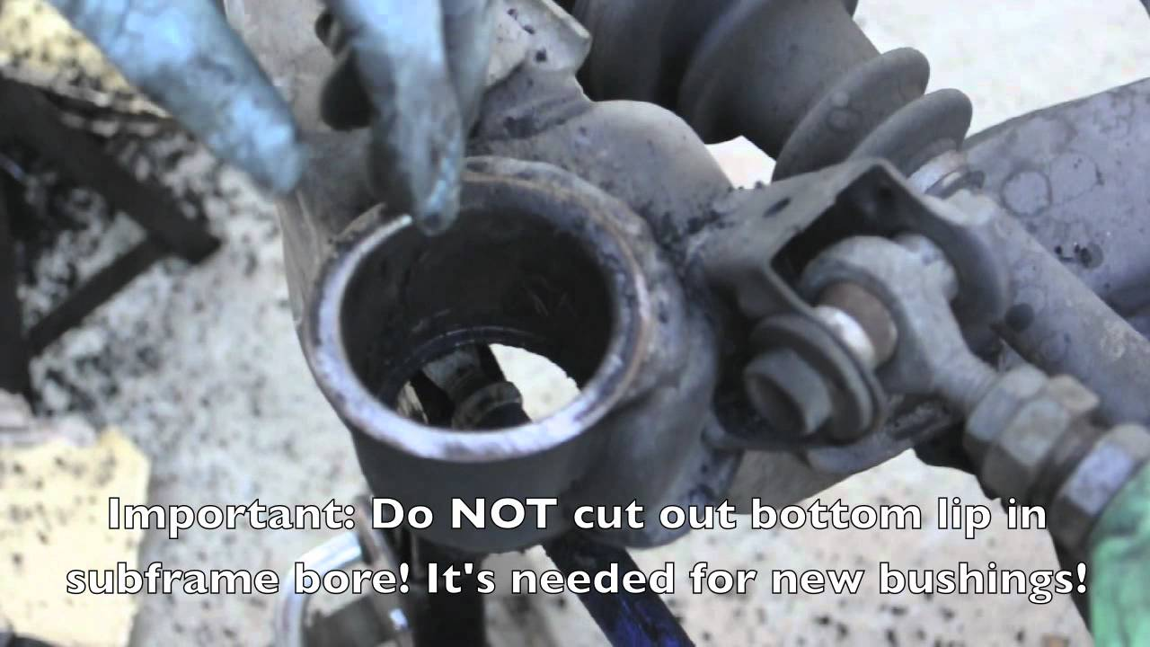 How To Install New Subframe Bushings 240sx Youtube