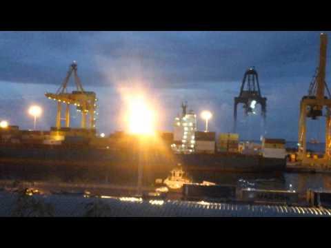 Costa Classica quitte Port Est Réunion 24/01/2015