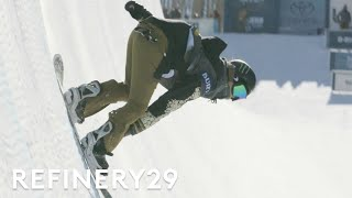 Watch Snowboarder Chloe Kim Win 2017 Burton Women's Open Halfpipe Tournament | Features | Refinery29