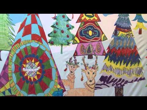Childhood cancer patients find joy in winter wonderland mural project