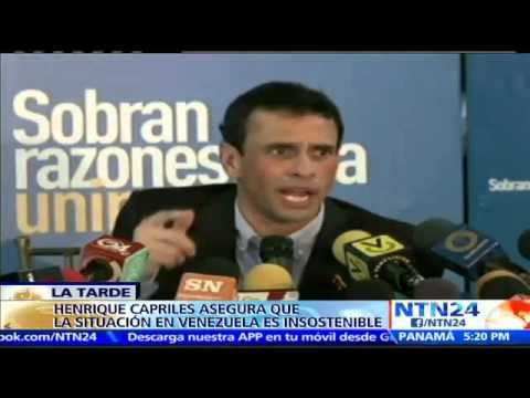 Henrique Capriles asegura que llegó el momento para un referendo revocatorio contra Nicolás Maduro