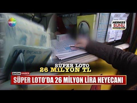 Süper Loto'da 29 Milyon Lira heyecanı