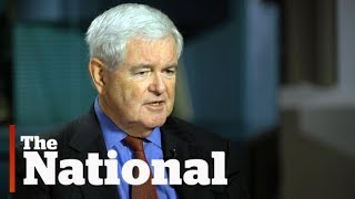 """Newt Gingrich calls Trump  """"stunningly effective,"""" and reporters a """"bunch of idiots"""""""
