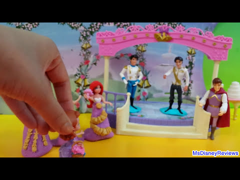 Disney Little Kingdom Fairytale Wedding Rapunzel Doll Gift Play Set Playdoh dresses MsDisneyReviews